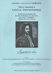 Oeuvre concernant le calcul infinitésimal - Intérieur - Format classique