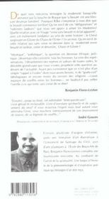 Chaos Et Gloire ; Le Sens De La Modernite - 4ème de couverture - Format classique
