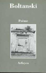 Poeme Boltanski - Couverture - Format classique