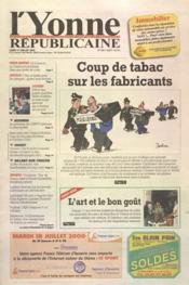 Yonne Republicaine (L') N°163 du 17/07/2000 - Couverture - Format classique