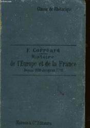 Histoire De L'Europe Et De La France Depuis 1610 Jusqu'A 1789 - Couverture - Format classique