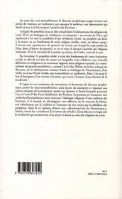 Le silence des prophètes ; la falsification des écritures et le destin de la modernité - 4ème de couverture - Format classique