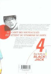 Say hello to black jack t.4 - 4ème de couverture - Format classique