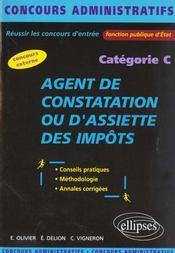 Agent De Constatation Ou D'Assiette Des Impots Categorie C - Intérieur - Format classique
