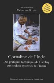 Cornaline de l'inde ; des pratiques techniques de Cambay aux techno-systèmes de l'indus - Couverture - Format classique