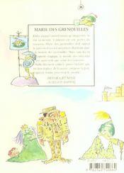 Marie Des Grenouilles - 4ème de couverture - Format classique