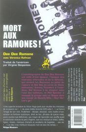 Mort aux Ramones ! - 4ème de couverture - Format classique