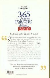 Rictus t.11; 365 bonnes raisons d'être paranoïaque - 4ème de couverture - Format classique