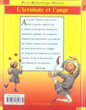 L'Acrobate Et L'Ange - 4ème de couverture - Format classique