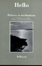 Prieres Et Meditations - Couverture - Format classique