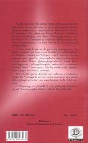 L'Aspiration A Etre ; Autour Du Philosophe Ebezener Njoh-Mouelle - 4ème de couverture - Format classique