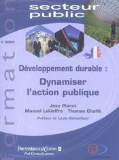 Developpement durable : dynamiser l'action publique - Intérieur - Format classique