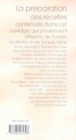 Patisseries orientales - 4ème de couverture - Format classique