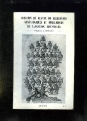 Bulletin Du Centre De Recherches Genealogiques Et Heraldiques De Languedoc Roussillon N° 1.1971. - Couverture - Format classique