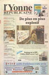 Yonne Republicaine (L') N°164 du 18/07/2000 - Couverture - Format classique