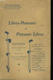 Libres-Penseurs Et Penseurs Libres - Couverture - Format classique