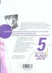 Say hello to black jack t.5 - 4ème de couverture - Format classique