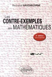 Les contre-exemples en mathematiques (2e édition) - Intérieur - Format classique