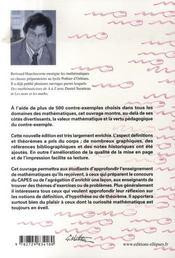 Les contre-exemples en mathematiques (2e édition) - 4ème de couverture - Format classique