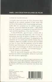 Elvira ou l'ultima prova babel 88 - 4ème de couverture - Format classique
