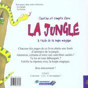 Cherche et compte dans la jungle à l'aide de la loupe magique - 4ème de couverture - Format classique