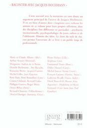 Raconter avec Jacques Hochmann - 4ème de couverture - Format classique