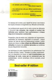 Je vends avec succès (4e édition) - 4ème de couverture - Format classique