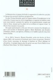 Temoins De La Resurrection De Jesus N51 - 4ème de couverture - Format classique