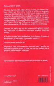 Justice Injuste, Le Scandale D'Outreau - 4ème de couverture - Format classique