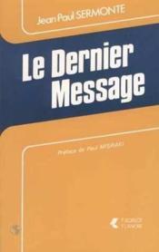 Dernier Message - Couverture - Format classique