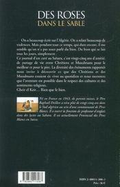 Roses Dans Le Sable - 4ème de couverture - Format classique