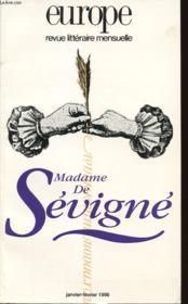 Revue Europe No 801-802 (Janvier - Fevrier 1996) Madame De Sevigne - Couverture - Format classique