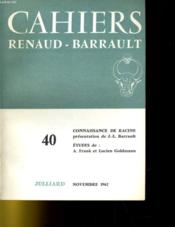 Cahiers Renaud - Barrault N°40 - Couverture - Format classique