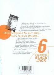 Say hello to black jack t.6 - 4ème de couverture - Format classique