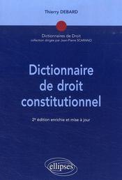 Dictionnaire de droit constitutionnel (2e édition) - Intérieur - Format classique