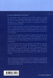 Dictionnaire de droit constitutionnel (2e édition) - 4ème de couverture - Format classique