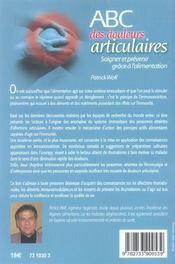 Abc Des Douleurs Articulaires - 4ème de couverture - Format classique
