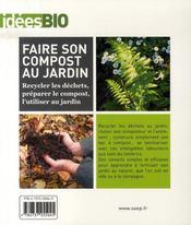 Faire son compost au jardin - 4ème de couverture - Format classique