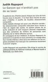 Le Garcon Qui N'Arretait Pas De Se Laver - 4ème de couverture - Format classique