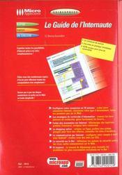 Le Guide De L'Internaute - 4ème de couverture - Format classique