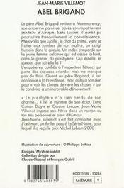 Abel Brigand - 4ème de couverture - Format classique