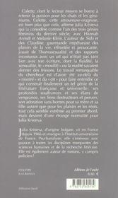 Colette, un genie feminin - 4ème de couverture - Format classique