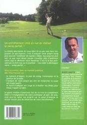 Realiser Le Swing Parfait Manuel D'Entrainement De Golf - 4ème de couverture - Format classique