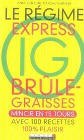 Le régime express ig brûle-graisses - Intérieur - Format classique