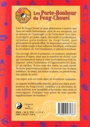 Les porte bonheurs du feng chouei - 4ème de couverture - Format classique