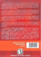 Conflits Et Litiges Du Travail. 500 Reponses Juridiques - 4ème de couverture - Format classique