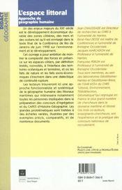 Espace Littoral - 4ème de couverture - Format classique