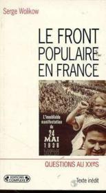 Front populaire en france (le) - Couverture - Format classique