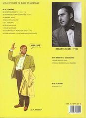 Blake et Mortimer T.2 ; le secret de l'espadon t.2 - 4ème de couverture - Format classique