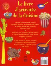 Le Livre D'Activites De La Cuisine ; 50 Activites Pour Avoir L'Eau A La Bouche - 4ème de couverture - Format classique